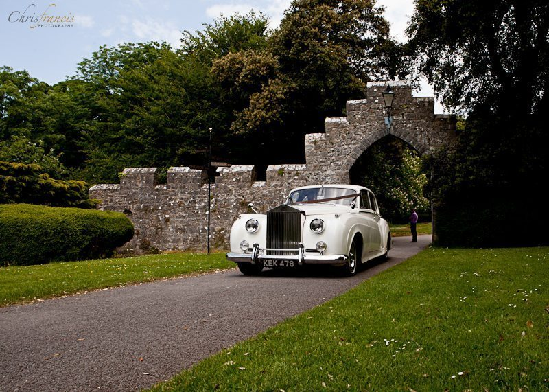Rolls Royce arrives at St Donat Castle